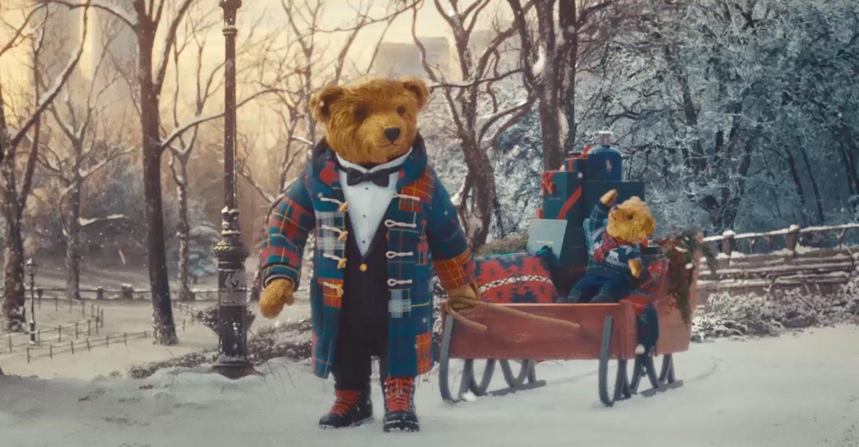 Image of Polo Bears & a sled full of Ralph Lauren fragrances