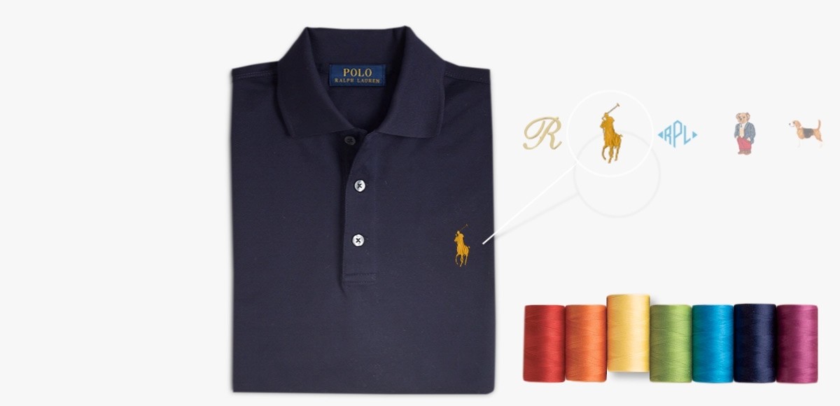 c3b4b7243 Animated navy Polo shirt   different embroidery options at left chest