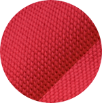 Swatch of red cotton mesh fabric