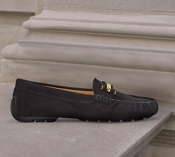 Metallic silver penny loafer