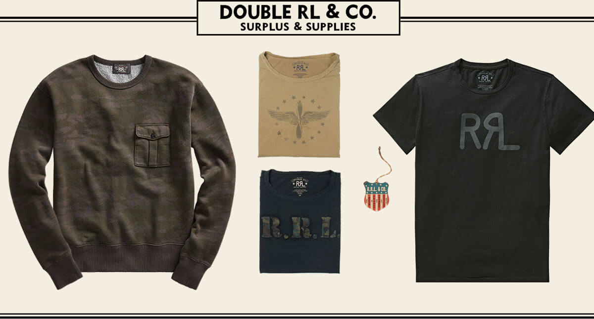 Long-sleeve dark brown tee & short-sleeve logo tee
