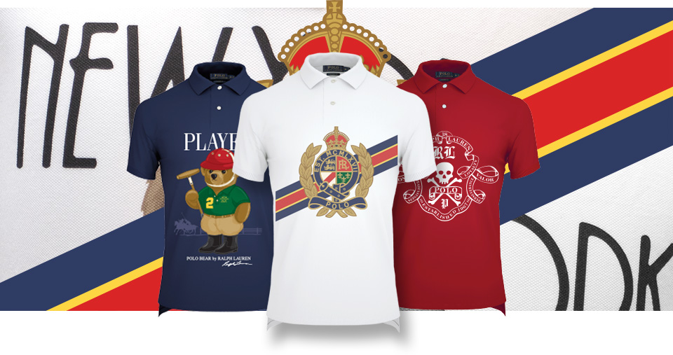 Polo shirts with custom US Open graphics