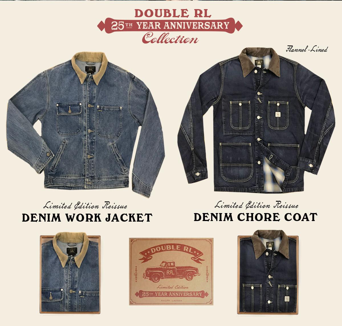 Denim work jacket & denim chore coat