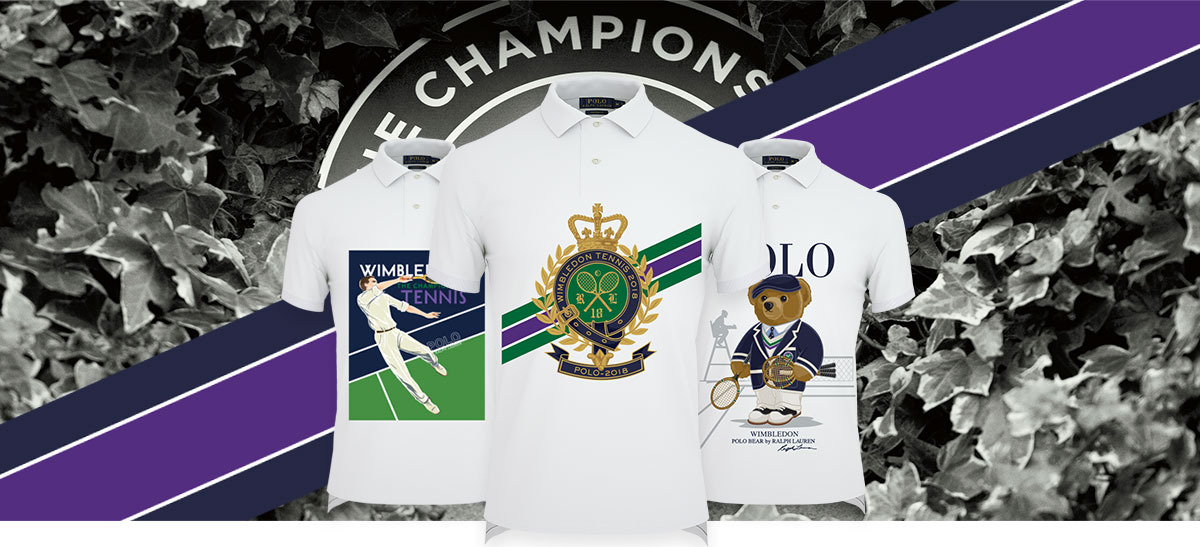 White Polo shirts with Polo Bear and nautical graphics