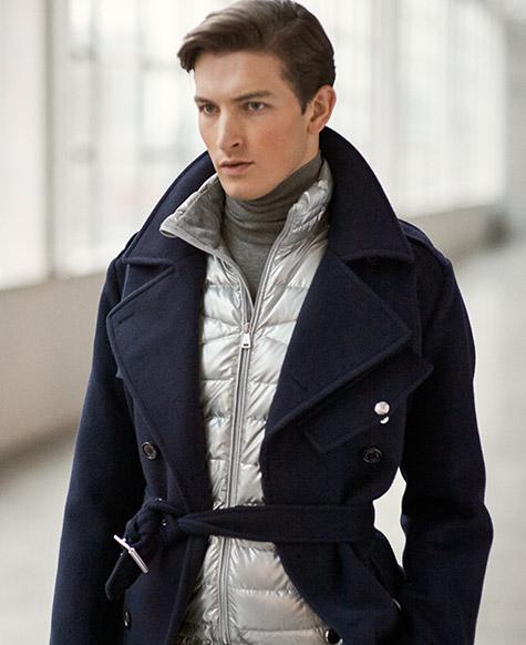 Wool Melton Trench Coat