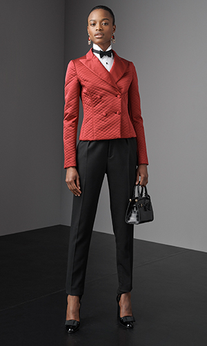 Model wears look from the Fall 2019 Collection